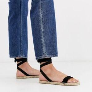 ASOS DESIGN NWOB Juniper espadrille flat sandals